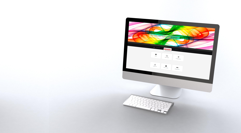 imac mockup - webdesign